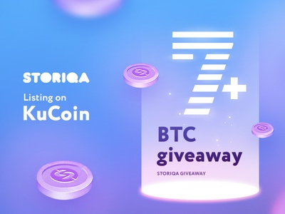 Giveaway btc coins storiqa promotion gift exchange listing money cryptocurrency bitcoin giveaway