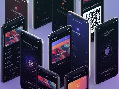 Wallet iOS app for cryptocurrency