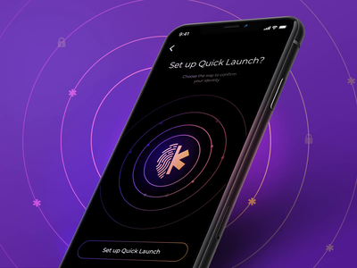 Quick App Launch error scan crypto currency trademark iphone face id touch id sign in ture motion ios fingerprint app