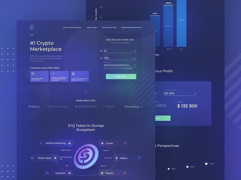 Cryptocurrency landing landing design coin crypto currency currency crypto bitcoin ico ui token