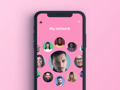 WIP for upcoming project ios ui phone play smooth pink design animation video social iphone motion app
