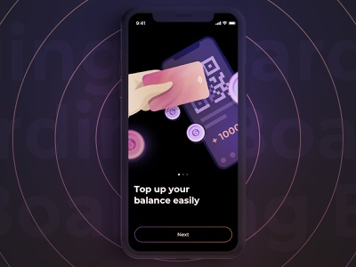 Boarding coin pay card finance money balance service phone ios iphone app bank boarding