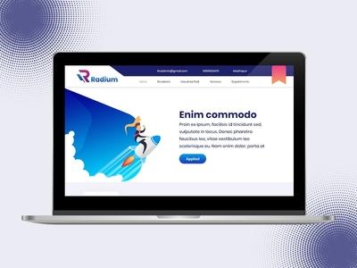 Radium Theme Web Landing Page UI