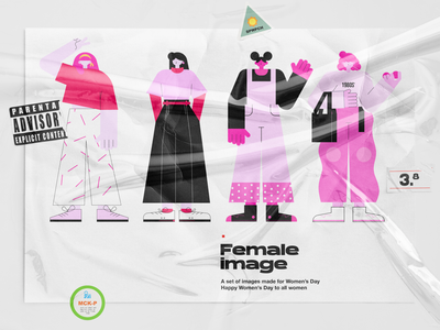 Female characters | For Women's Day character design flat famale illustration