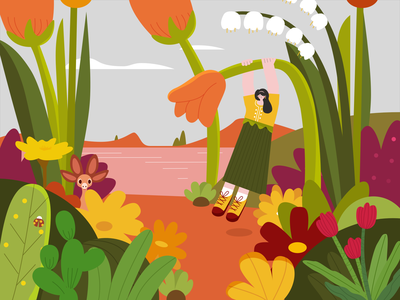 The Beginning of Summer | Twenty four solar terms illustration design character