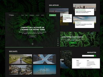 Ecologia - Landing Page concept nature web design interface ecological wwf greenpeace wordpress blog ui design landing page ux design website