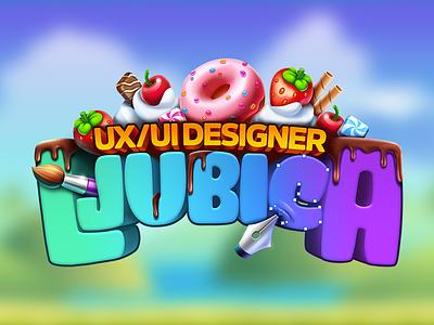 Personal Logo illustration cartoony sweet logodesign logo