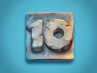 Stone Numbers digital paint numbers stone photoshop