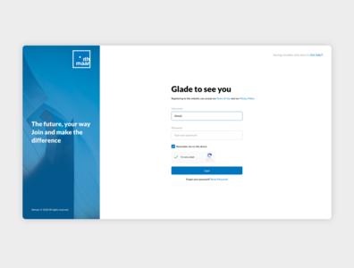 Login agency design site web ui ux