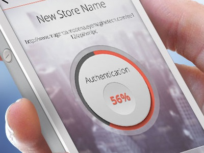 Authentication process ios iphone app ios ios7 iphone app shopping admin dashboard mobile app circle loader magento store admin