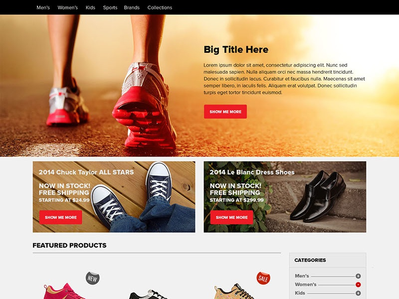 Ecommerce Home Page PSD Free Download (freebie) ecommerce landing web psd freebie free ux ui free psd download