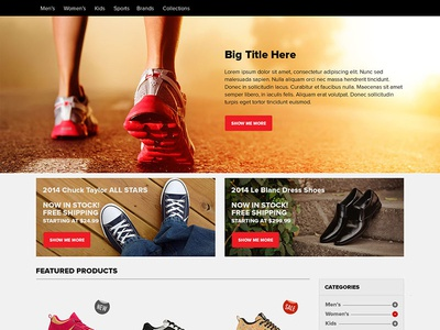 Ecommerce Home Page PSD Free Download (freebie)
