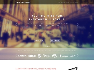 Landing Page Template PSD Freebie Giveaway