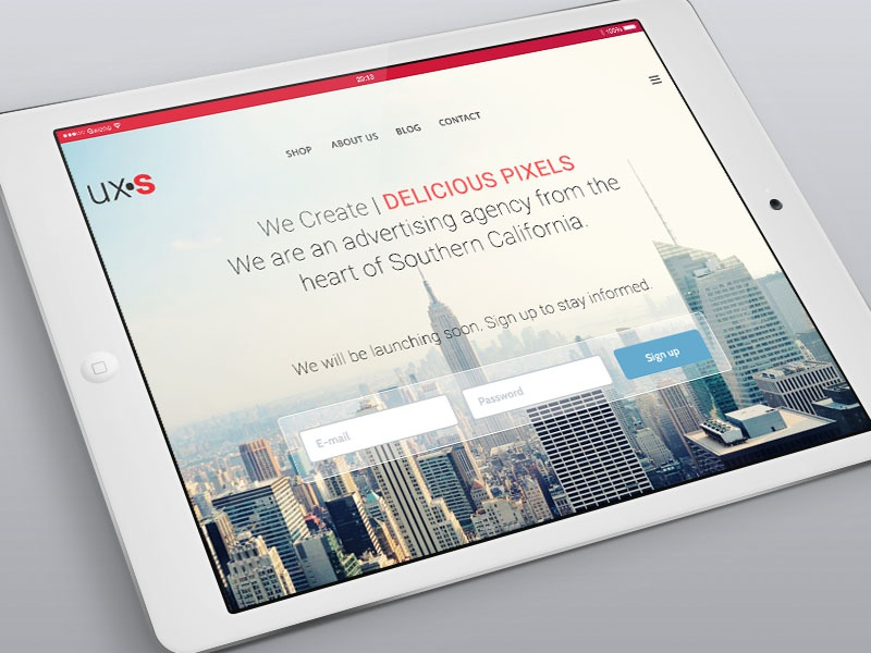Landing Page Email Sign Up Pre-Launch by Christopher Swanger ...