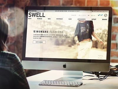 Swell.com web redesign slider navigation home responsive ui ux