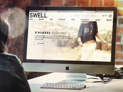 Swell.com web redesign