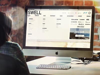 Swell.com web redesign menu dropdown filters nav user experience ui ux navigation