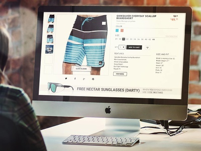 Swell.com web redesign category product shopping ecommerce user experience ui ux photoshop web