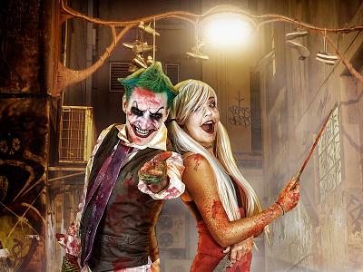 The Joker Composite Chris Swanger Photography Web scary dark alley knife blood composite compositing quinn harley joker comics batman