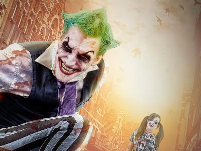 The Joker 3 Composite Chris Swanger Photography Web scary dark alley knife blood composite compositing quinn harley joker comics batman