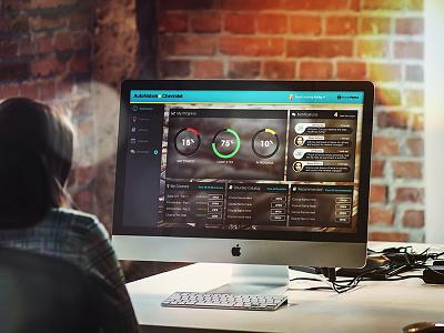 Dashboard WIP dash modern responsive blur widget stats chart graph dashboard