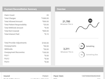 medical industry - wireframes for backend medical billing user flow product experience ui ux frame frames wire wireframe
