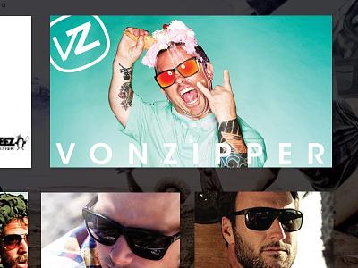 Von Zipper Look Book web page design ui ux clen modern photo look book page landing