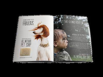 Pet soap magazine ad layout funny dog animal advertisement ad magazine