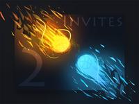 ice and fire invitation(2x Dribbble invites)