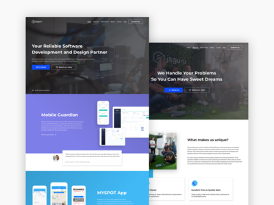 JSGuru website redesign