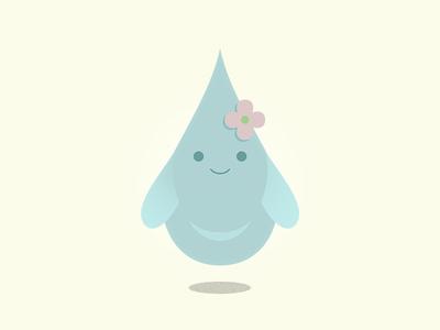 Raindrop Girl character design weather vectorel vector sticker raindrop illustration girl 2d