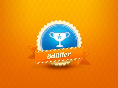 Awards Badge ux ui facebook illustration ribbon button award icon design icon badge
