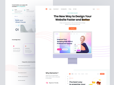 Elements - Website Builder bootstrap tailwind seo redesign buildwithangga business element website builder builder website landing page design ui ux clean figma