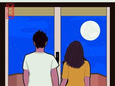 Stay_home artist art stars sky night quarantine ilustration