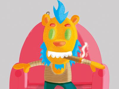 Smokey_Jones_the bear 🙉🔥🙈 characterdesign photoshop arte digital fun characters colors