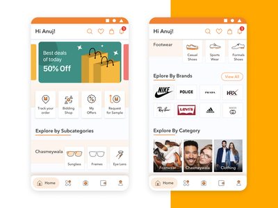 Sahyogi Dashboard Screen (B2B Platform App) ecommerce dashboard mobile app iconography colors illustrator casestudy user flow userinterface uxdesign ui design