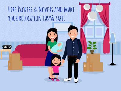 Family Relocation Illustration