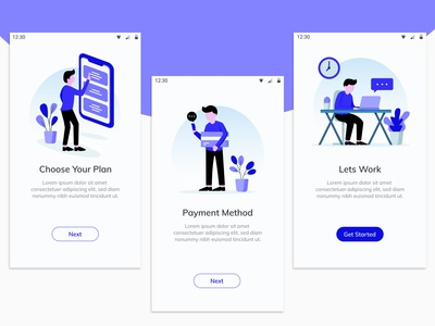 Onboarding Screen for Online Mobile Recharge App