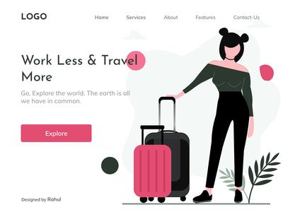 Travelling- Landing Page