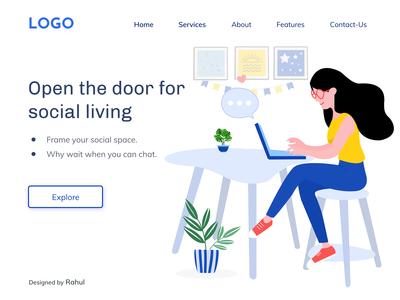 Social Media - Landing Page
