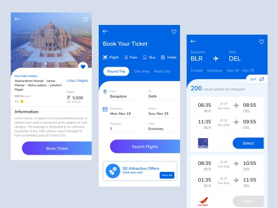 Travel / Holiday App travelling booking app uiuxdesign ui design figma holiday app travel app