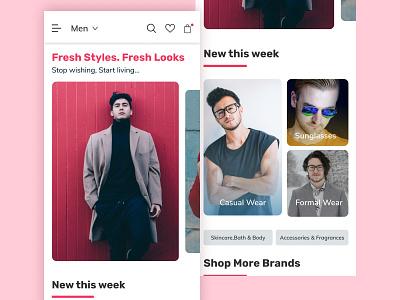 Fashion/E-commerce App mobile ui mobile app uiuxdesign figma ecommerce fashion app