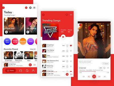 Gaana Mobile App Redesign figma app music app mobile uiux music