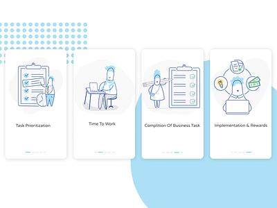 Onboarding Screen for Corporate Business corporate business mobile app mobile ui uidesign illusrator figma