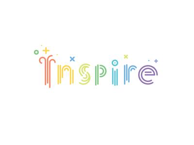 Inspire Logo colorful logo material vector line inspire