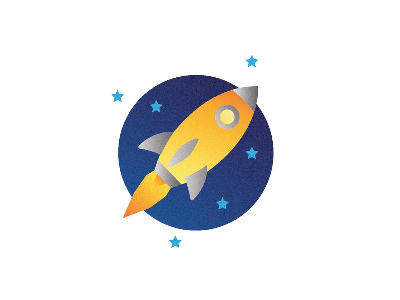 Rocket Illustration stars space rocket illustrator vector colorful design illustration logo icon