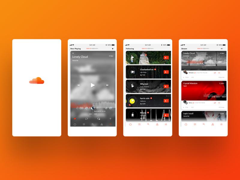 Soundcloud 2.0 web design web icon logo ux app dashboard redesign app concept ui design app soundcloud