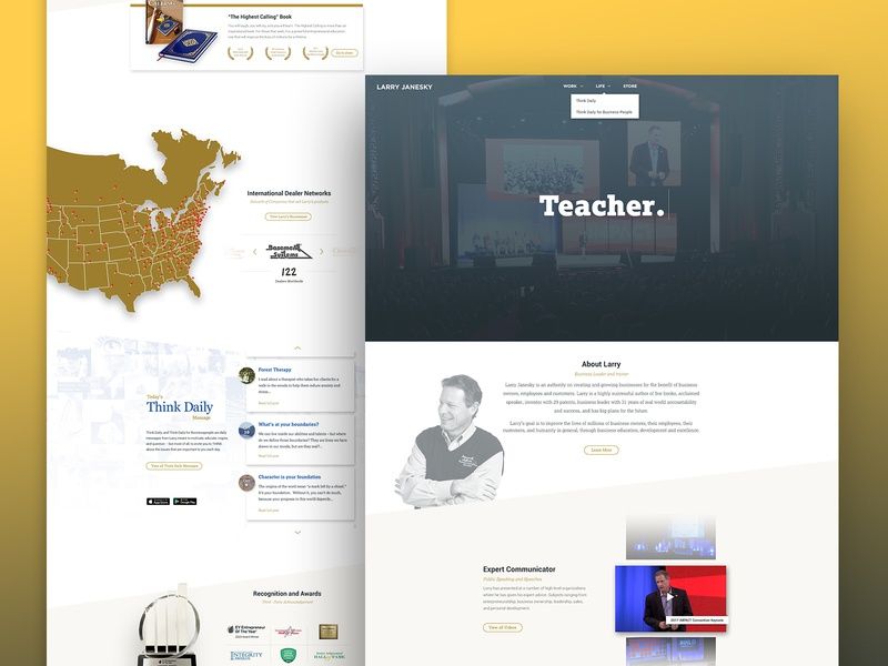 Personal Website - Entrepreneur entrepreneur personal home landing visual design type flat typography logo branding design contractor web hero website web design