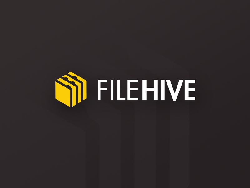 Logo - FileHive identity minimal lettering clever type flat ui website illustration typography branding vector icon colorful design logo