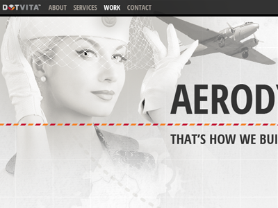 Sneak preview of Dotvita's refreshed .com agency retro aviation gray aerodynamic dotvita